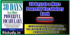 30 Days to a More Powerful Vocabulary Book in English Download