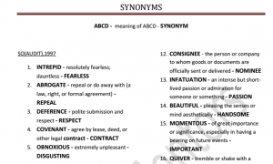 Compilation of Synonyms in SSC Exams Pdf Download