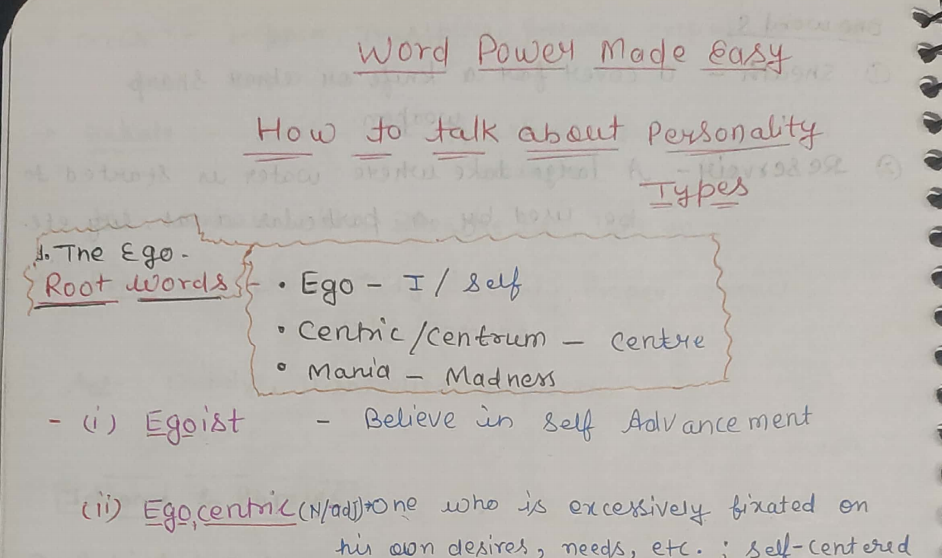 Word Power Made Easy Chapter 1 HandWritten Notes PDF Download